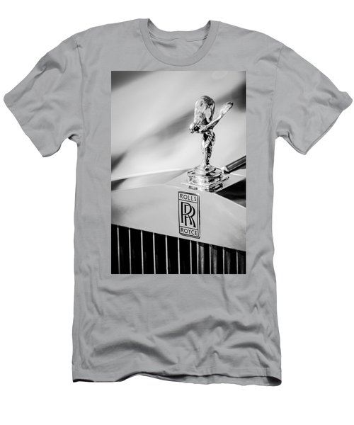 Rolls-royce Hood Ornament -782bw Men's T-Shirt (Athletic Fit)
