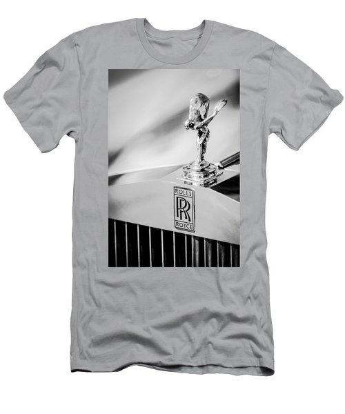 Rolls-royce Hood Ornament -782bw Men's T-Shirt (Athletic Fit)