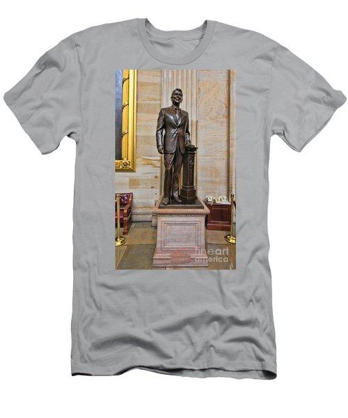 Ronald Regan -  U S Capitol Statuary Hall Men's T-Shirt (Slim Fit) by Allen Beatty