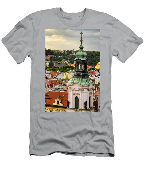 Rooftops Of Prague 1 Men's T-Shirt (Athletic Fit)