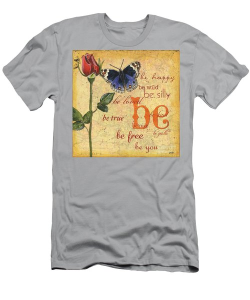 Roses And Butterflies 1 Men's T-Shirt (Athletic Fit)