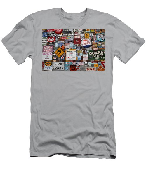 Route 66 Signs Men's T-Shirt (Slim Fit) by Lynn Sprowl