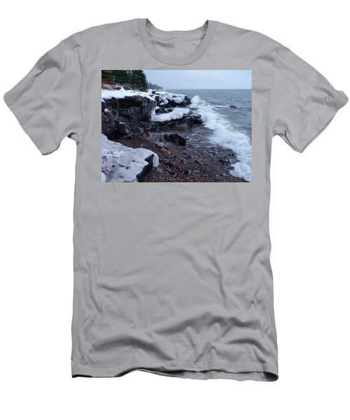 Rugged Shore Winter Men's T-Shirt (Athletic Fit)