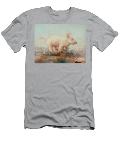 Running Piglet Men's T-Shirt (Athletic Fit)