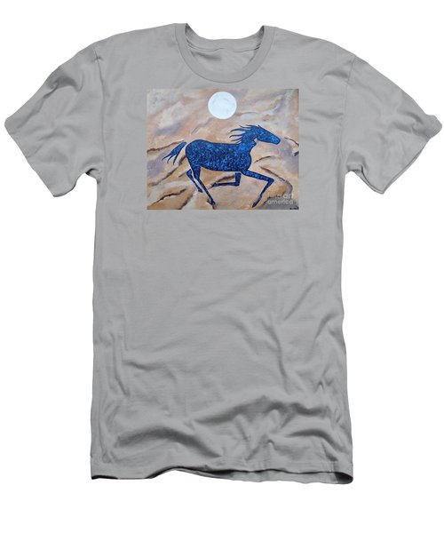 Running With The Moon Men's T-Shirt (Athletic Fit)