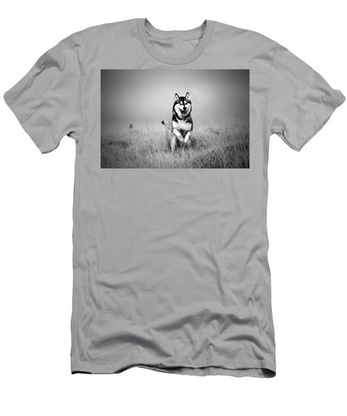 Running Wolf Men's T-Shirt (Athletic Fit)