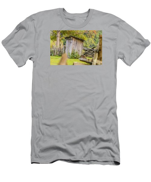 Rustic Fence And Outhouse Men's T-Shirt (Athletic Fit)