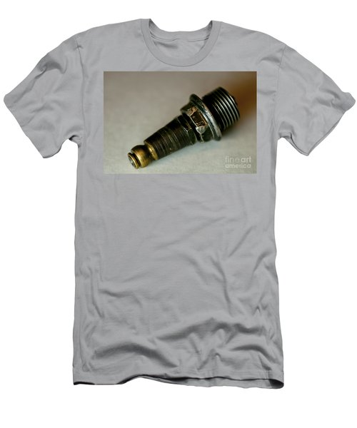 Rusty Old Spark Plugs Men's T-Shirt (Slim Fit) by Wilma  Birdwell
