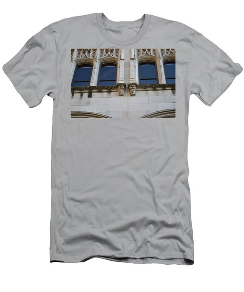 Men's T-Shirt (Slim Fit) featuring the photograph Sa Gargoyles  by Shawn Marlow