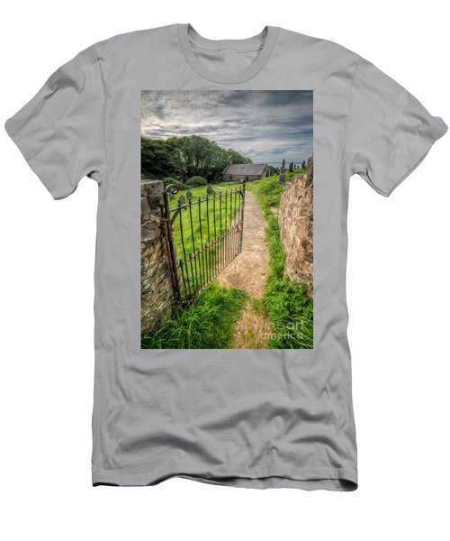 Sacred Path Men's T-Shirt (Slim Fit) by Adrian Evans