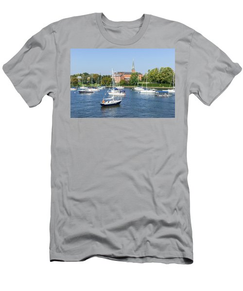 Sailboats By Charles Carroll House Men's T-Shirt (Athletic Fit)