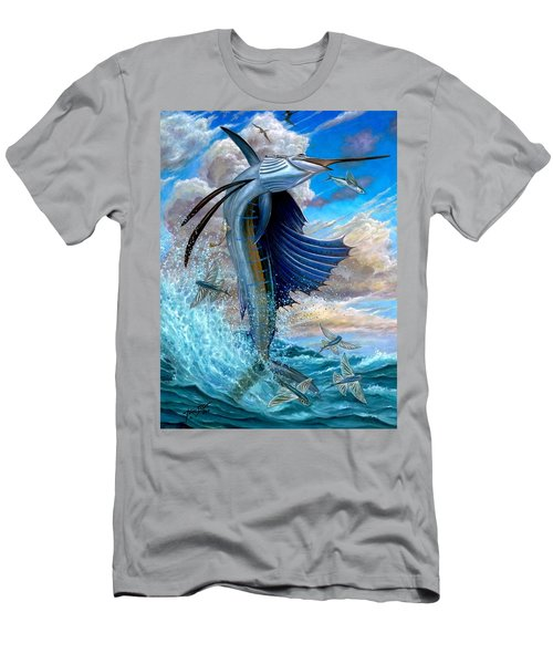 Sailfish And Flying Fish Men's T-Shirt (Athletic Fit)