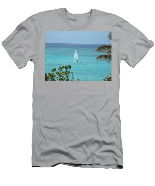 Men's T-Shirt (Slim Fit) featuring the photograph Sailing by David S Reynolds