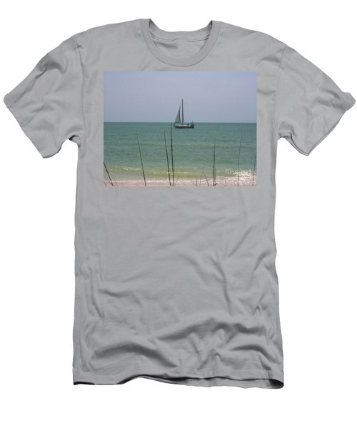Men's T-Shirt (Slim Fit) featuring the photograph Sailing In The Gulf by D Hackett