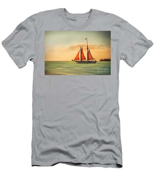 Sailing Into The Sun Men's T-Shirt (Athletic Fit)
