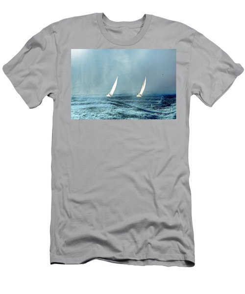 Sailing Into The Unknown Men's T-Shirt (Slim Fit) by Andrea Kollo