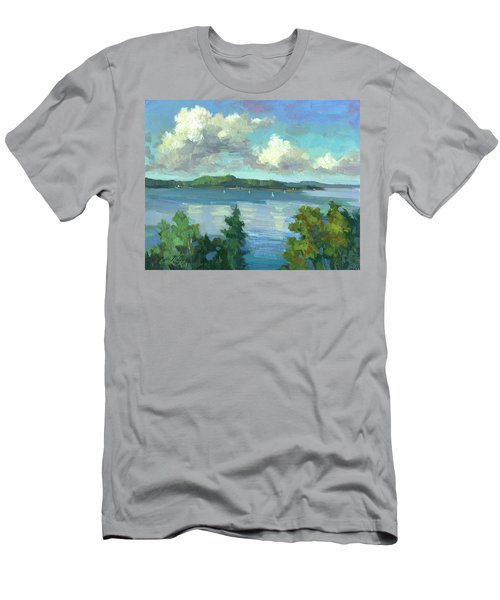 Sailing On Puget Sound Men's T-Shirt (Athletic Fit)