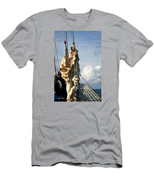 Sails Men's T-Shirt (Slim Fit) by Joan Davis