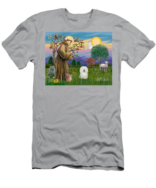 Saint Francis Blesses A Bolognese Men's T-Shirt (Athletic Fit)