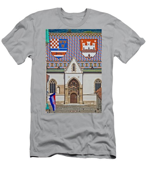 Saint Mark Church Facade Vertical View Men's T-Shirt (Athletic Fit)