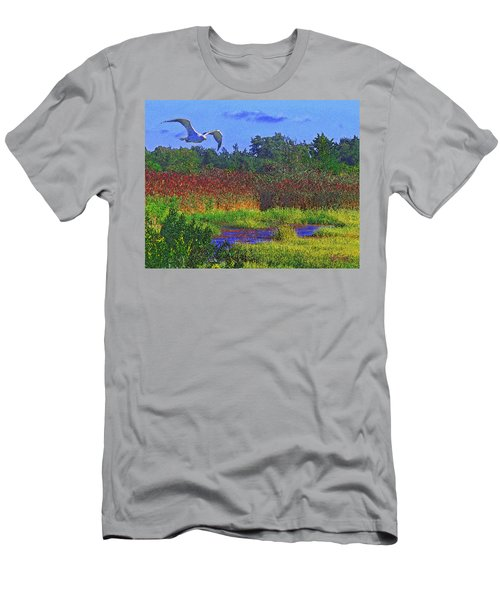 Salt Marsh Gull Men's T-Shirt (Athletic Fit)
