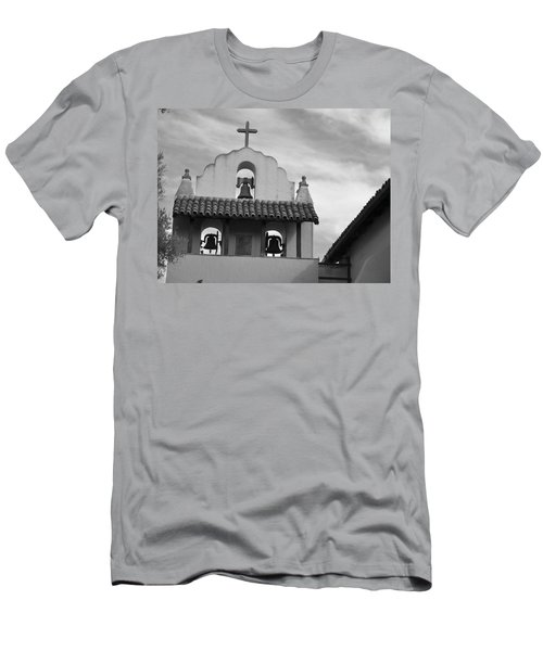 Santa Ines Mission Bell Tower Men's T-Shirt (Athletic Fit)