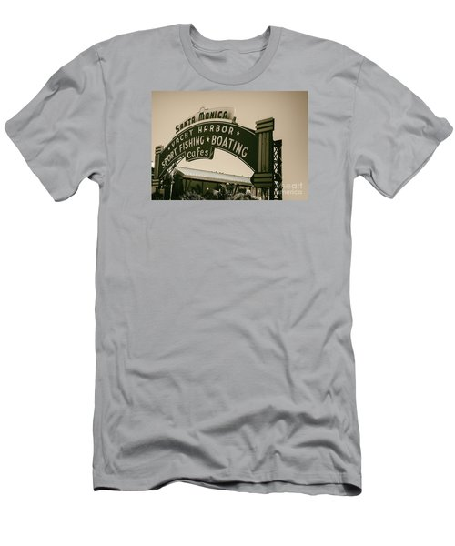 Santa Monica Pier Sign Men's T-Shirt (Athletic Fit)