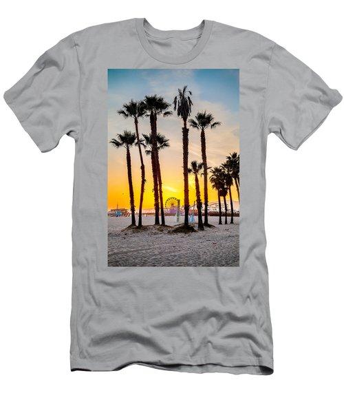 Santa Monica Palms Men's T-Shirt (Athletic Fit)