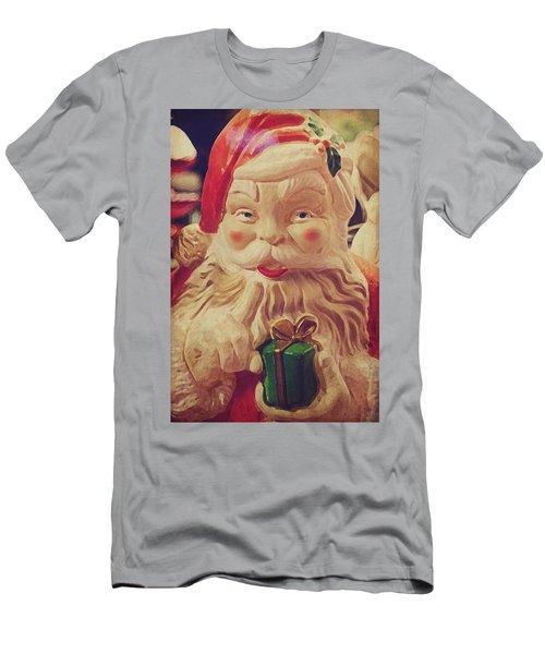 Santa Whispers Vintage Men's T-Shirt (Slim Fit) by Toni Hopper