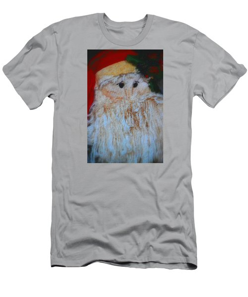 Santa With Button Eyes Men's T-Shirt (Slim Fit) by Nadalyn Larsen