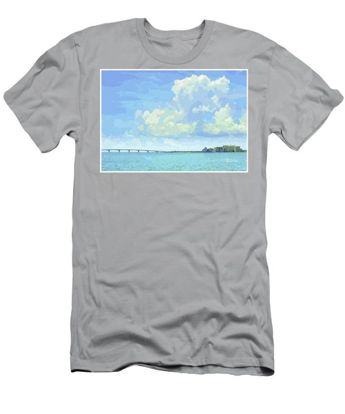 Sarasota Skyline From Sarasota Bay Men's T-Shirt (Athletic Fit)