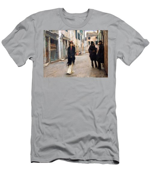 Sargent's Street In Venice Men's T-Shirt (Slim Fit)