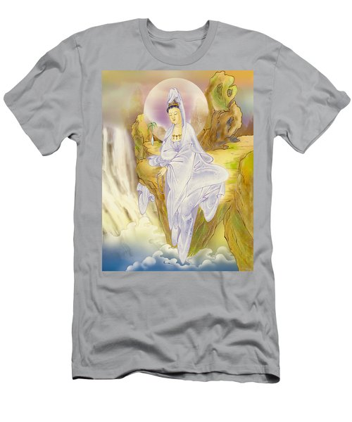 Men's T-Shirt (Slim Fit) featuring the photograph Sault-witnessing Kuan Yin by Lanjee Chee