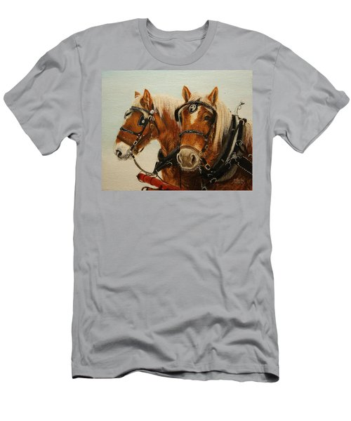 Men's T-Shirt (Athletic Fit) featuring the painting Say What? by Tammy Taylor