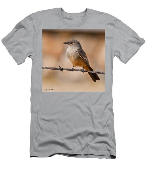 Say's Phoebe On A Barbed Wire Men's T-Shirt (Athletic Fit)