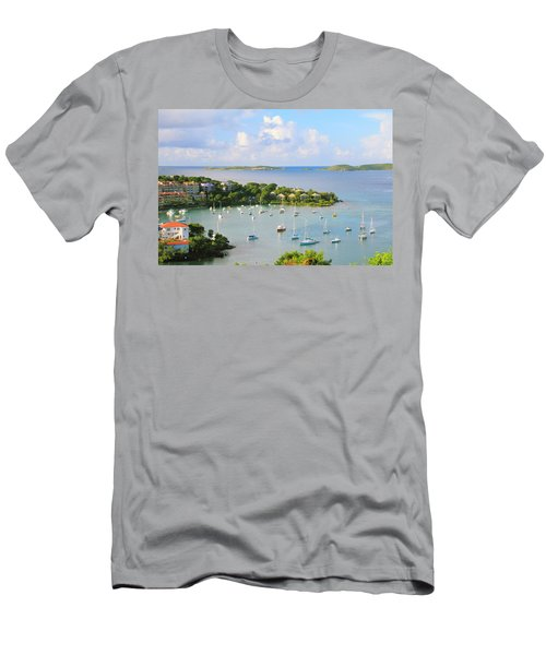 Scenic Overlook Of Cruz Bay St. John Usvi Men's T-Shirt (Athletic Fit)