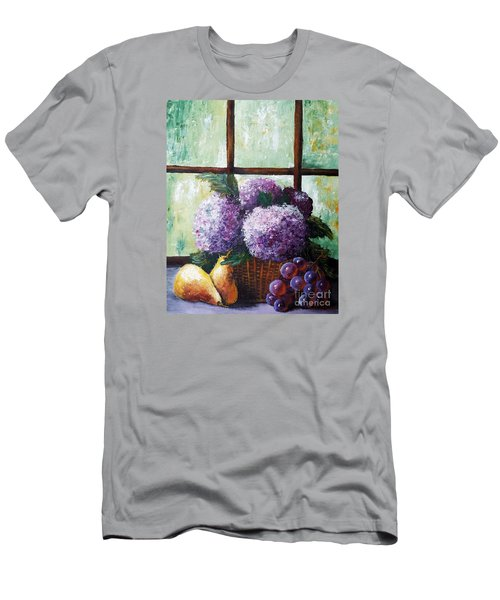 Men's T-Shirt (Slim Fit) featuring the painting Scent Of Memories by Vesna Martinjak