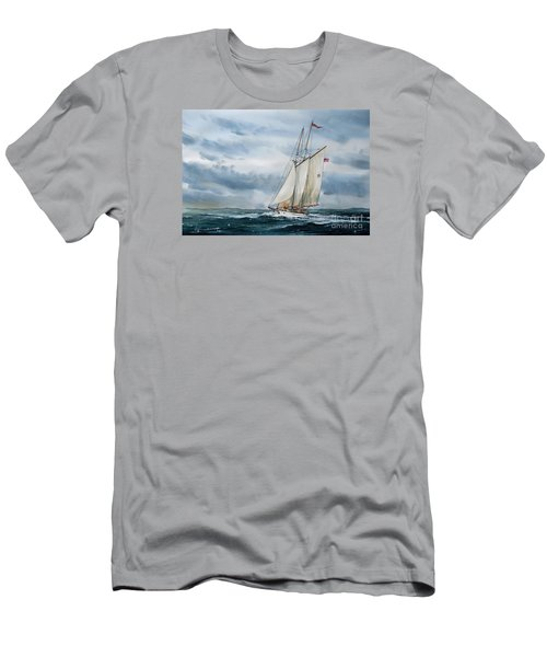 Schooner Adventuress Men's T-Shirt (Slim Fit) by James Williamson