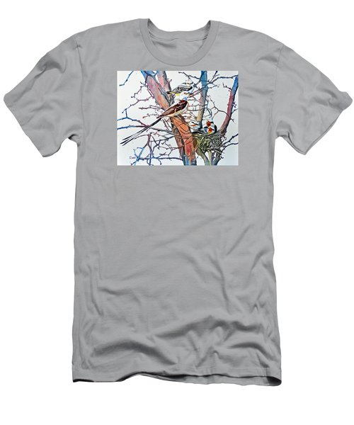Da149 Scissortailed Flycatchers By Daniel Adams Men's T-Shirt (Athletic Fit)