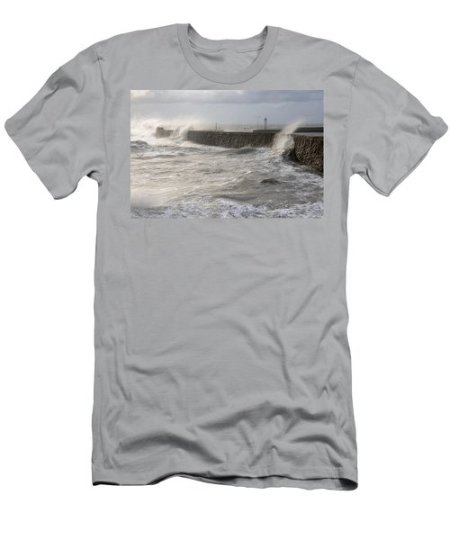 Men's T-Shirt (Slim Fit) featuring the photograph Scottish Sea Storm by Jeremy Voisey