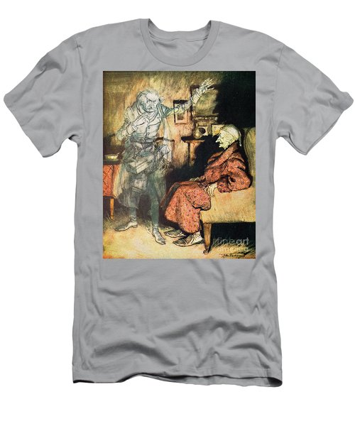 Scrooge And The Ghost Of Marley Men's T-Shirt (Athletic Fit)