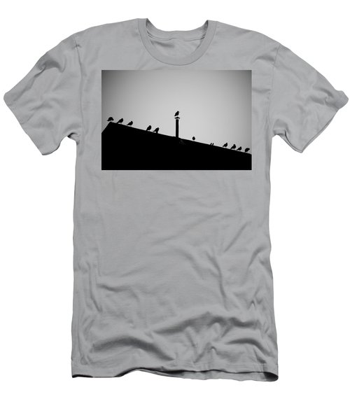 Sea Gulls In Silhouette Men's T-Shirt (Athletic Fit)