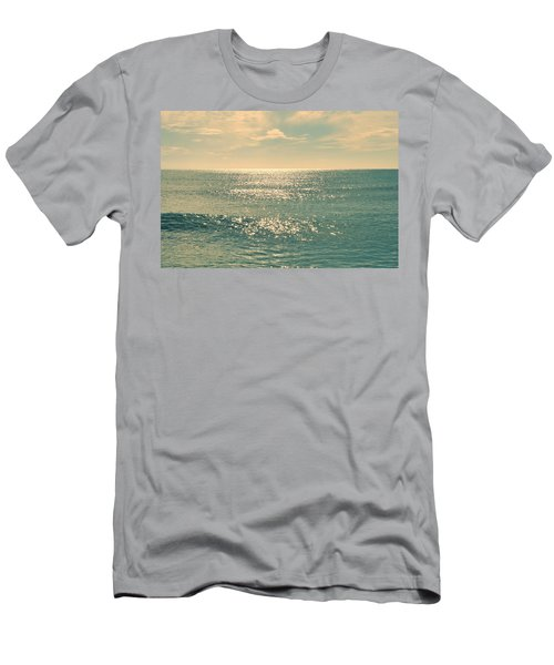 Sea Of Tranquility Men's T-Shirt (Slim Fit) by Laura Fasulo
