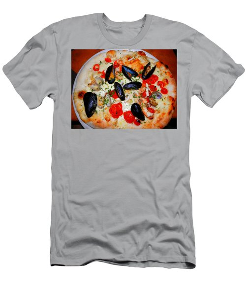 Seafood Pizza Men's T-Shirt (Slim Fit) by Pema Hou
