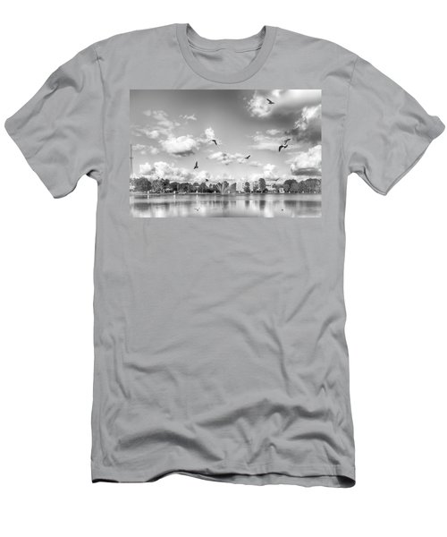 Men's T-Shirt (Athletic Fit) featuring the photograph Seagulls by Howard Salmon
