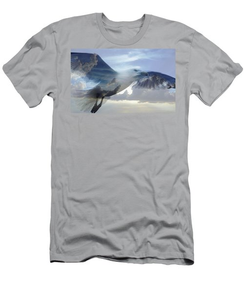 Searching The Sea - Seagull Art By Sharon Cummings Men's T-Shirt (Athletic Fit)