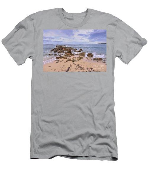 Seascape With Rocks Men's T-Shirt (Athletic Fit)