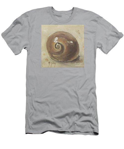 Seashell Beach Moon Shell Snail  Men's T-Shirt (Slim Fit) by Mary Hubley