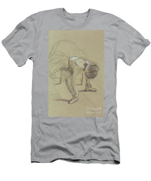 Seated Dancer Adjusting Her Shoes Men's T-Shirt (Athletic Fit)