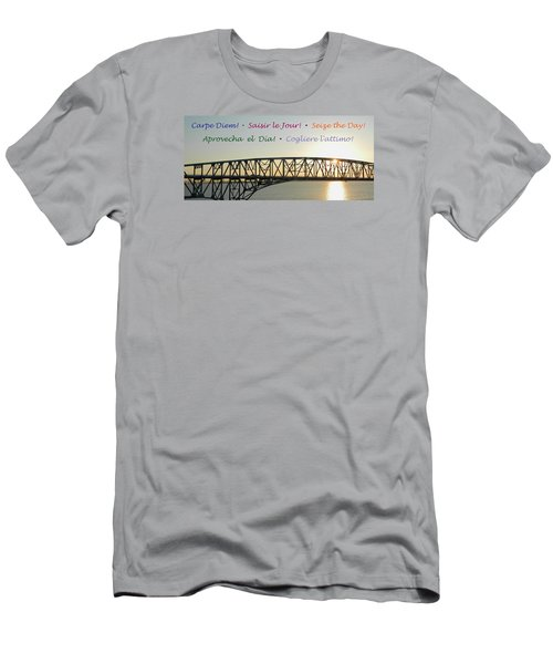Seize The Day - Annapolis Bay Bridge Men's T-Shirt (Slim Fit) by Emmy Marie Vickers
